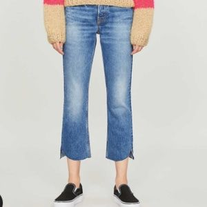 GRLFRND Tatum cropped mid-rise jeans